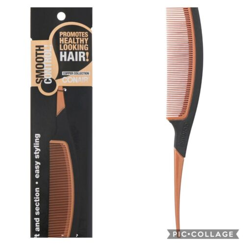 Conair Smooth Control Copper Collection Easy Styling Lift & Section Comb NIP