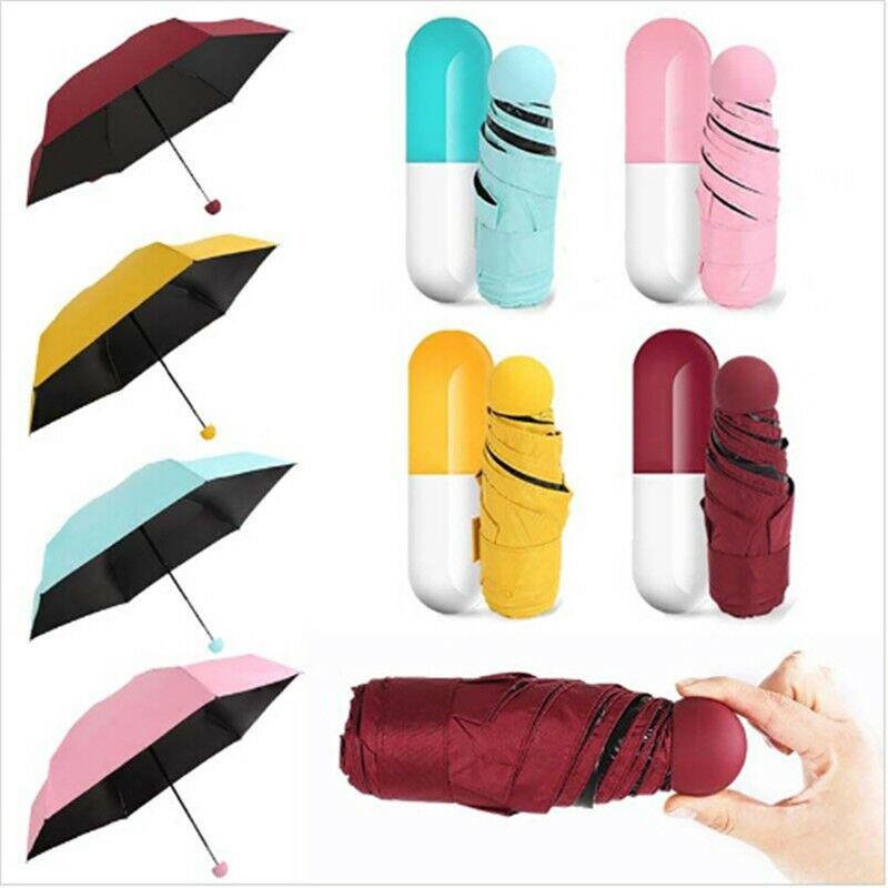 Capsule Umbrella Mini Light Pocket Umbrellas Anti-UV Folding