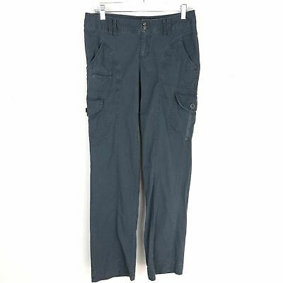 Columbia Outdoor Pants Gray Blue Women 4 Short 4P Petite Stretch Hiking Cargo