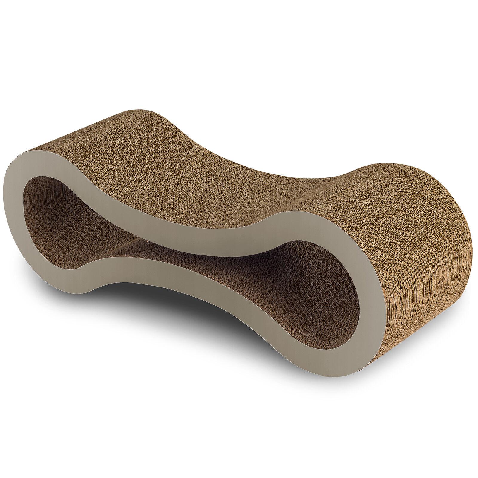 Cat Scratcher Lounge Post Furniture Play Rest Sleep Cardboard with Catnip