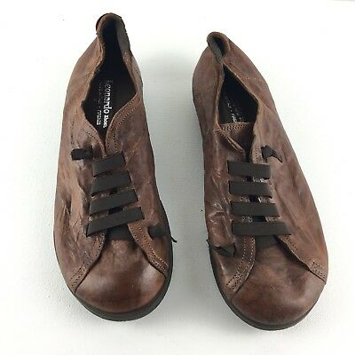 Leonardo Shoes Brown Stretch Lace Italy Firenze 41