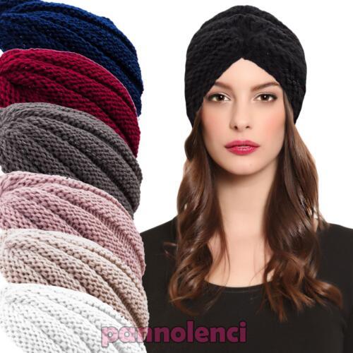 turban femme bonnet retro bande charpe lurex chapeau tricot jersey neuf kt2 ebay. Black Bedroom Furniture Sets. Home Design Ideas