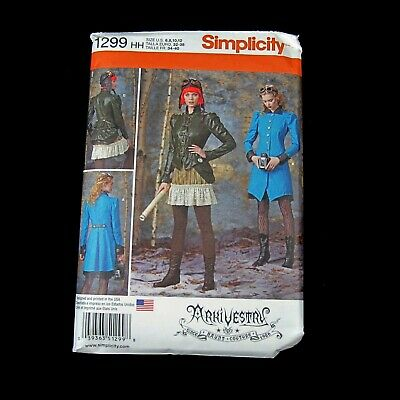 Arkivestry Haute Couture Steampunk Cosplay Costume Pattern Simplicity 1299 6-12
