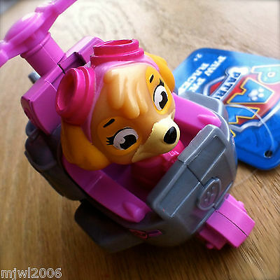Nickelodeon PAW PATROL RACERS SKYE HELICOPTER Plastic Vehicle Rolls Pink COPTER