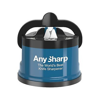 AnySharp Global World's Best Knife Sharpener Tool Utensil Gadget Blue