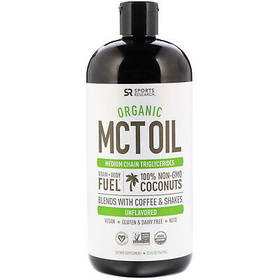 Organic MCT Oil derived from ONLY Coconut- 32oz | Great in K