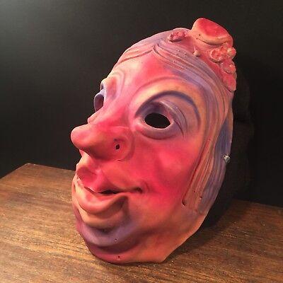 Vintage Halloween Mask Old Lady Rubber Monster Latex PRIORITY MAIL - Old Vintage Halloween Masks