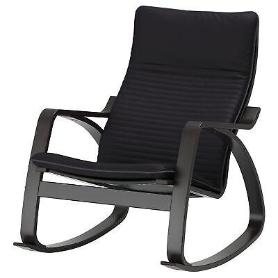 Ikea Schaukelstuhl Schwarzbraun Stuhl Sessel schwarzbraun/Knisa schwarz