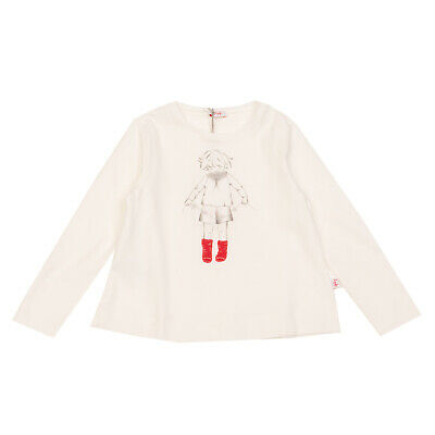 IL GUFO T-Shirt Top Size 5Y Logo Coated Front Sock Patches Long Sleeve Crew Neck