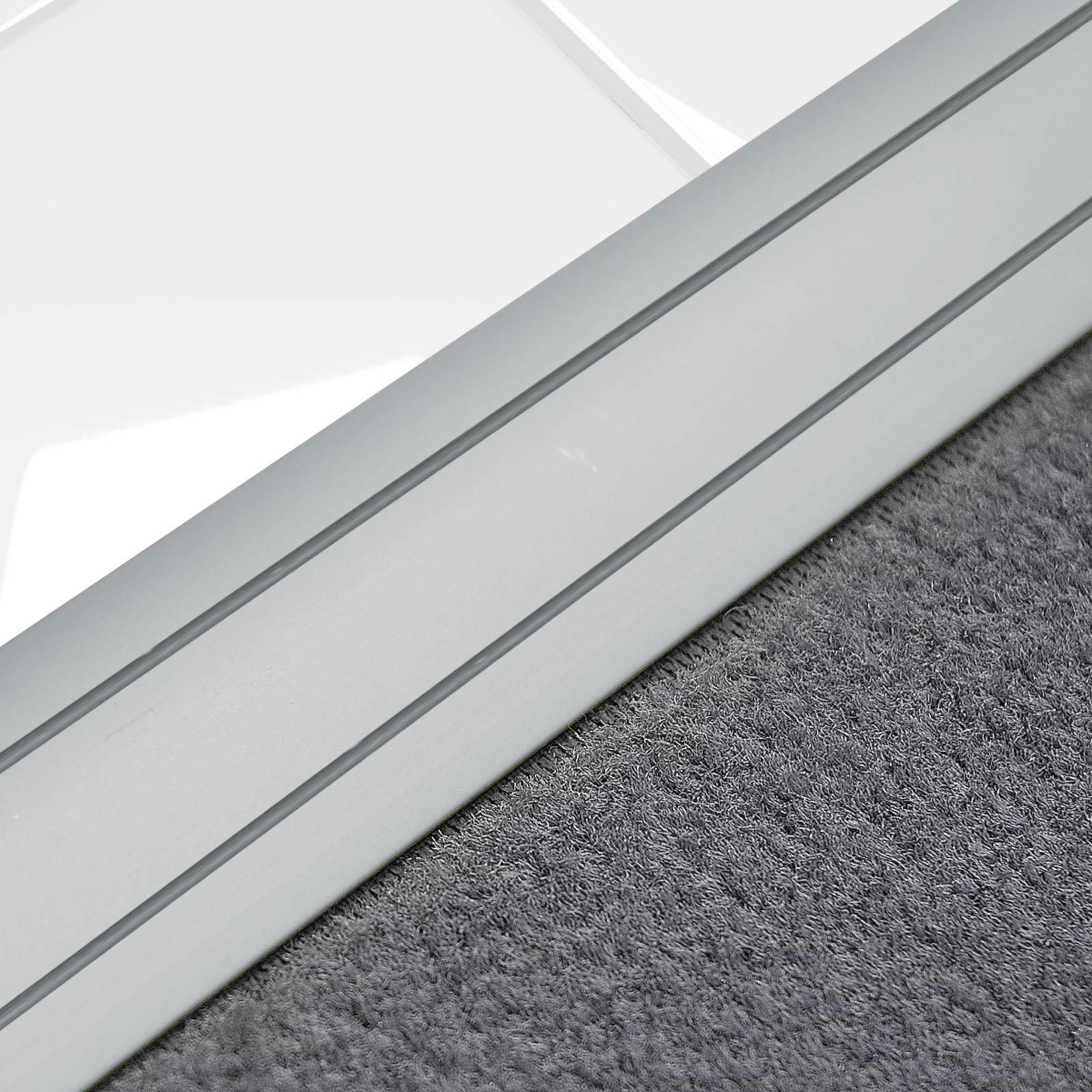 Alu Übergangsprofil Teppichschiene Schweller Laminat Parkett Profil flach 36mm  Silber