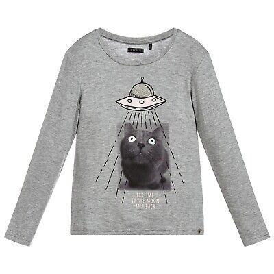 IKKS top t-shirt Glow in the Dark Grey Cat Spaceship Take Me to Moon Back 4