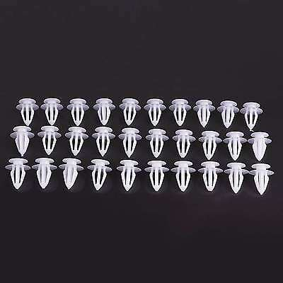 30Pcs Quality Car Interior Door Trim Panel Retainer Fastener Clip Vauxhall White