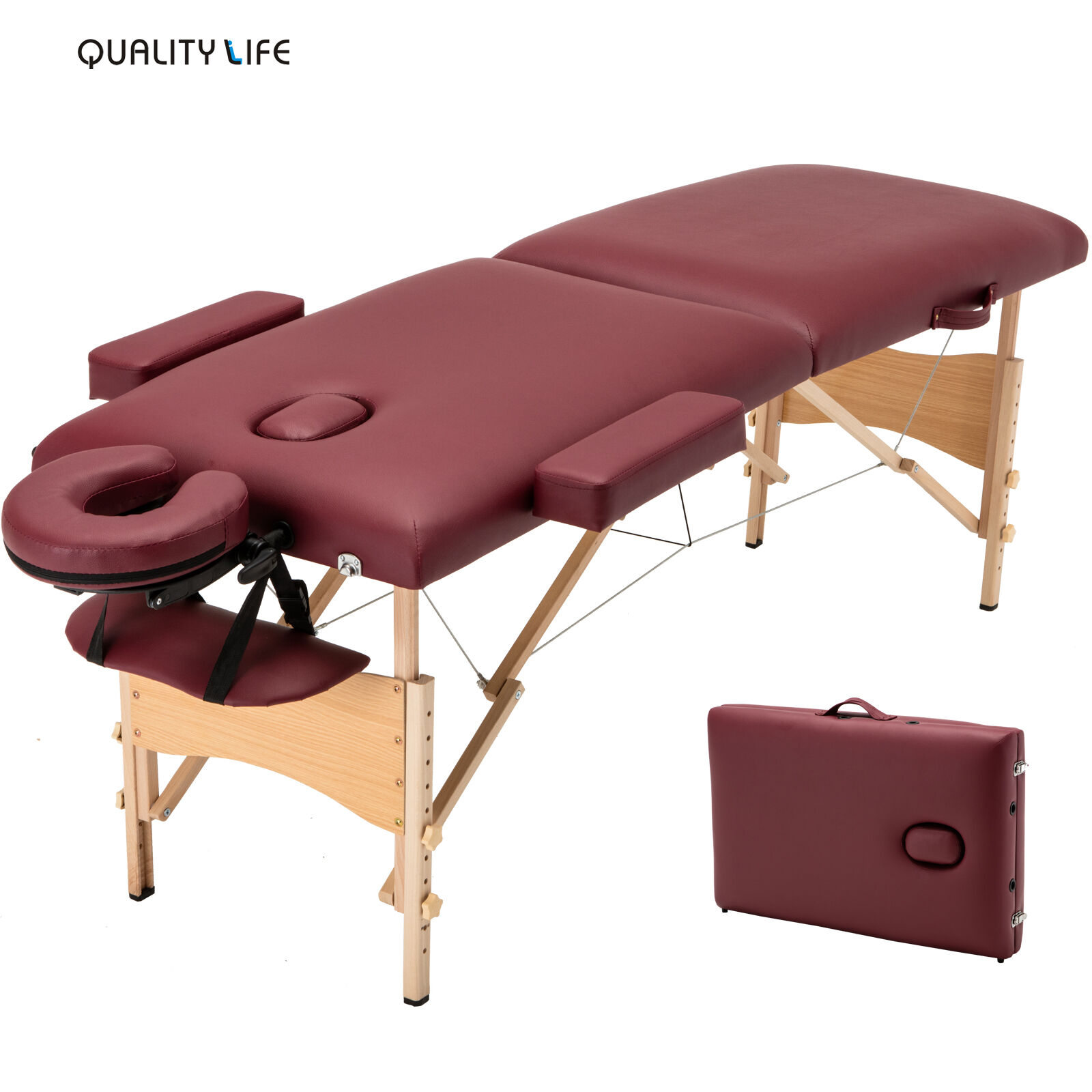 3 Fold Portable Massage Table Facial SPA Bed Tattoo w ... |Massage Table