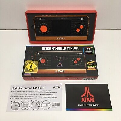 Atari Retro Handheld Console By Blaze Boxed With Instructions 50 Built In Games