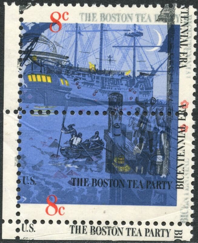 """#1481 & #1483 Var. """"boston Tea Party"""" Black Omitted Due To Ppf Error Bp0008"""