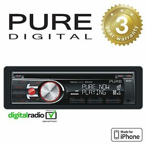 Pure DAB+ Radio Car Headunit Stereo CD Player With iPhone Control & Bluetooth