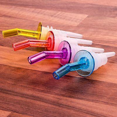 4x POURER & STOPPERS Cocktail/Drink/Wine/Liquor Bottle Dispenser Spout Flow/Pour