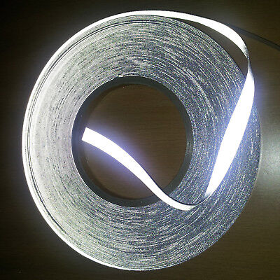 Silver both side Reflective span fabric sew on tape, 15mm, Hight Vis reflective