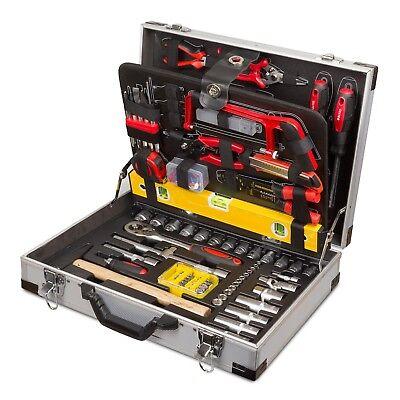Professioneller Werkzeugkoffer 139 tlg Alukoffer incl. Steckschlüsselratsche
