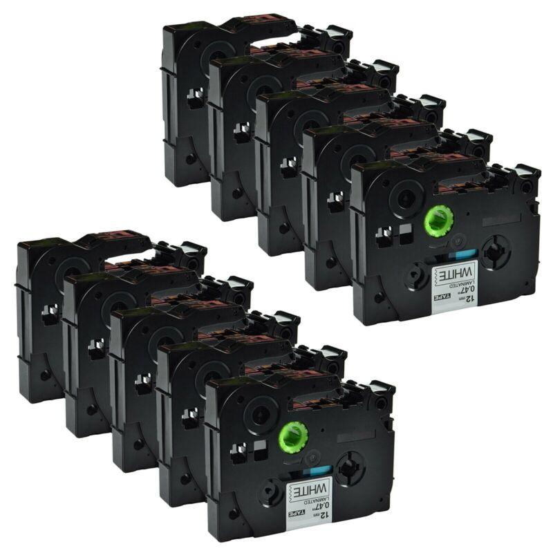10-Pk/Pack TZe231 TZ231 Black/White Label Tape For Brother P-Touch PT-D210 12mm