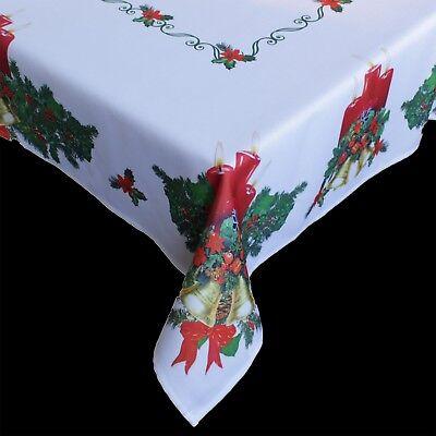 Weihnachtstischdecke Tischdecke für Weihnachten mit Motiven Weihnachtsdeko NEU