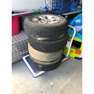 Mazda BT-50 alloy rims with tyres.