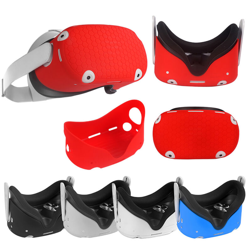 Silicone Front Protective Cover Sleeve for OculusQuest2 VR Glasses Headset
