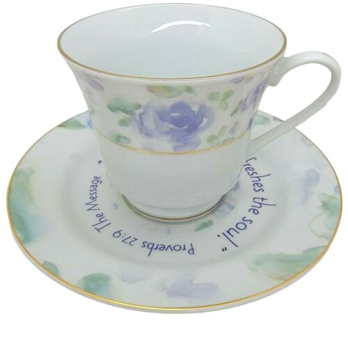 Dayspring Tea Cup Saucer  A Sweet Friendship Refreshes The Soul Proverb 29:9