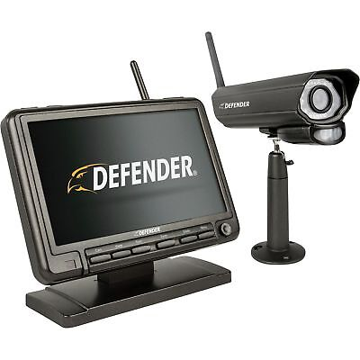 Defender Wireless Dvr Security System With Digital Camera  Lcd Monitor