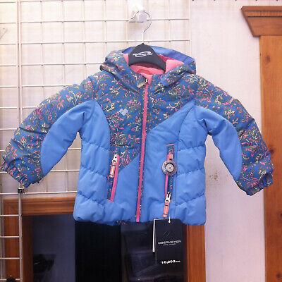 Youth Obermeyer Girls Cakewalk Ski Outdoor Jacket color Honeysuckle Blue size 4 (Cakewalk Clothing)