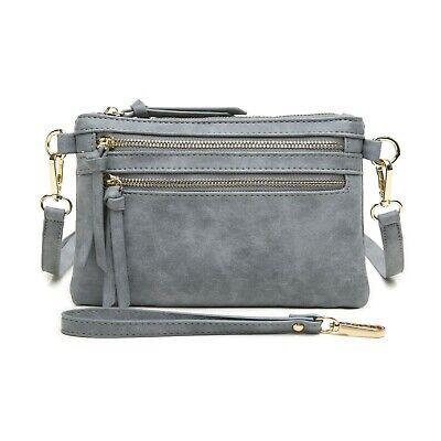 Bag Clutch Handbag Wristlet - Aitbags Women Crossbody Bag Leather Messenger Handbag Clutch Purse with Wristlet