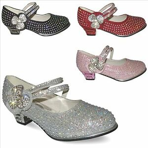 girls-new-kids-glitter-diamante-detail-party-bridesmaid-wedding-shoes-size-uk7-3