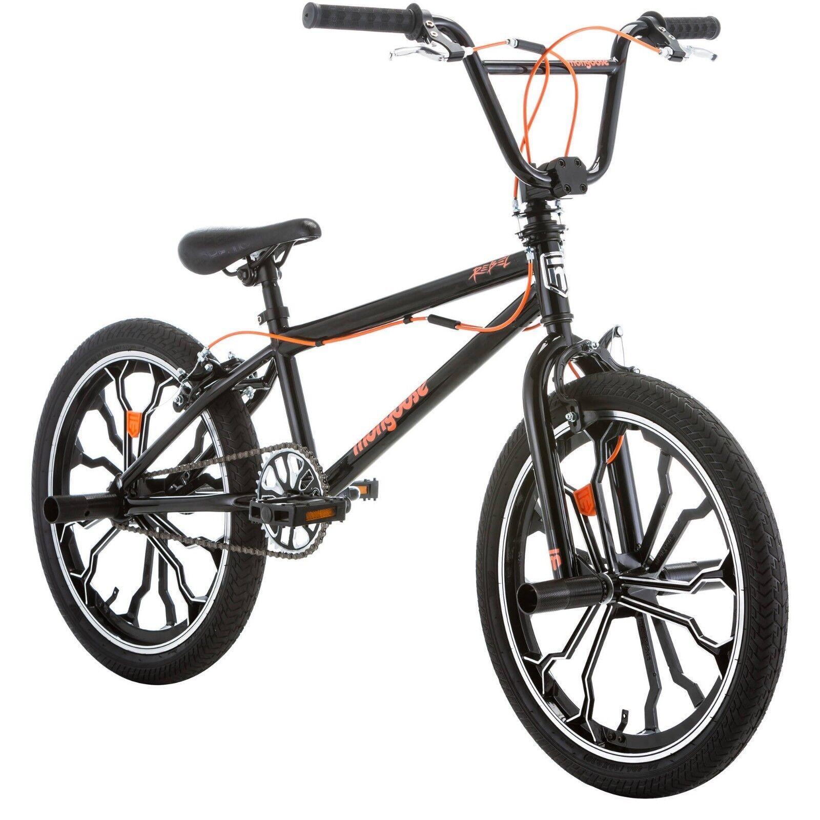 Kids BMX Bike Mongoose Freestyle Youth Bikes For Boys Kid Bicycle 20 Inch Black