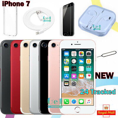 NEW Unlocked Apple iPhone 7 32GB 128GB 256GB Mobile Smartphone All Colors UK