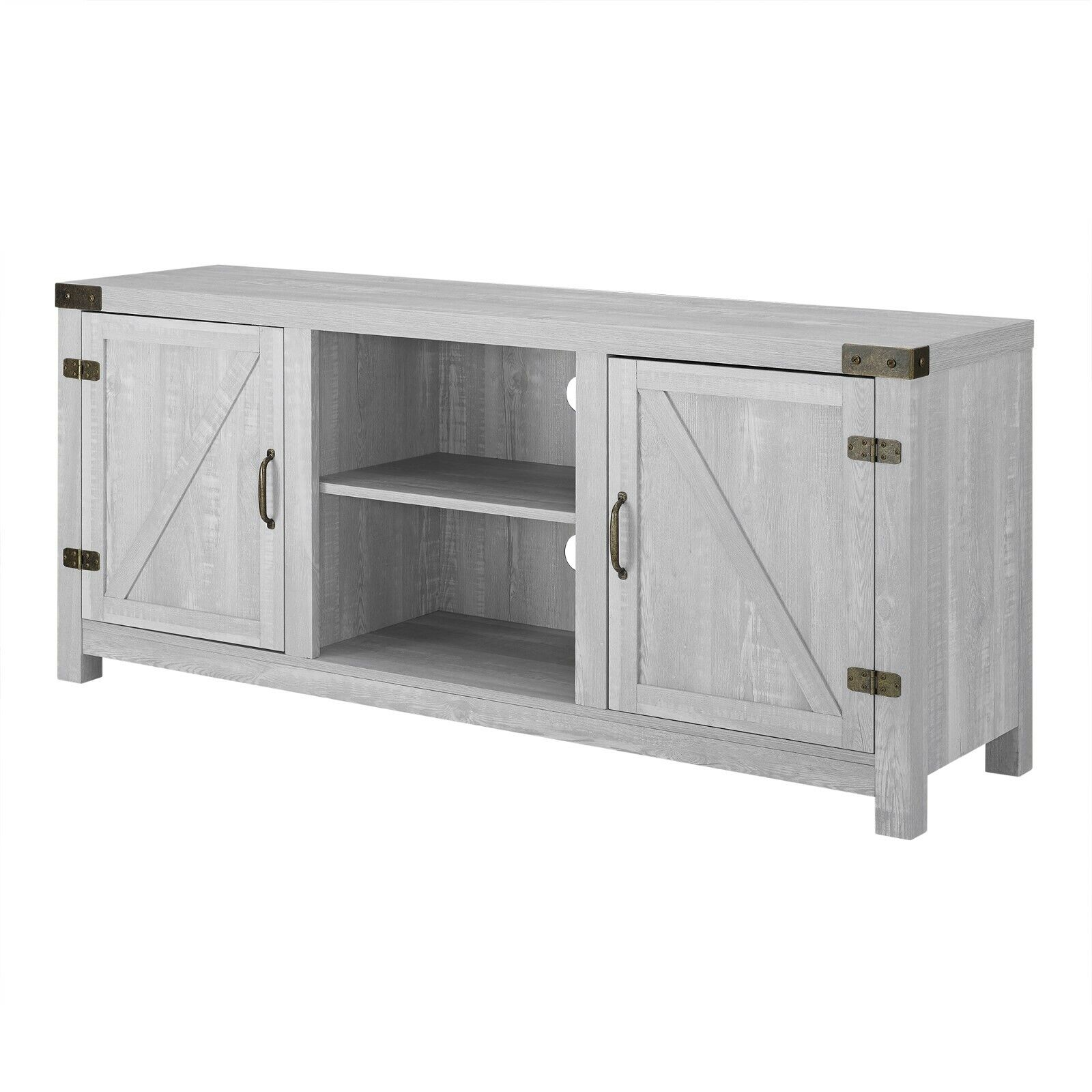 Manor Park 58 inch to 65 inch Barn Door TV Stand with Side D