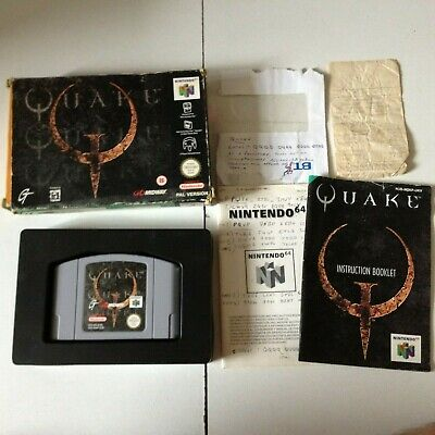 QUAKE 64 N64 NINTENDO VIDEO GAME fully working BOXED