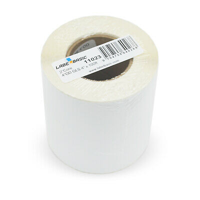 Labels For Primera Lx500c Printer 4 Continuous Label Rolls 100 Ft Glossy Bla...