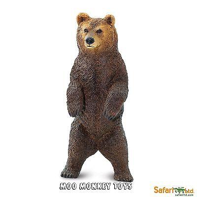 GRIZZLY BEAR Rearing Safari Ltd # 181729  Wild Animal  Replica  NEW 2016
