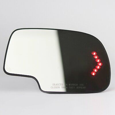 Mirror Glass Heated Turn Signal Passenger Side for 2003-2007 Chevy GMC Cadillac ()