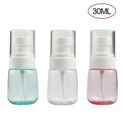 3-Pack 30ml Travel Transparent Plastic Perfume Atomizer Empty Misty Spray Bottle Health & Beauty