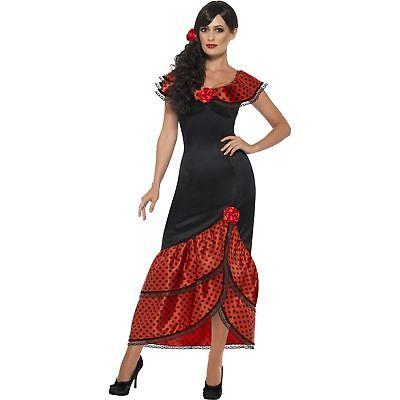 Flamenco Senorita Costume Spanish Mexican Dancer Women's Fancy Dress Costume - Costume Spanish