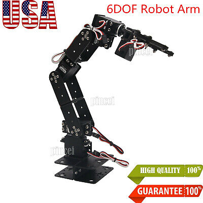 Aluminium Robot 6 Dof Arm Mechanical Robotic Arm Clamp Claw Mount For Arduino Us