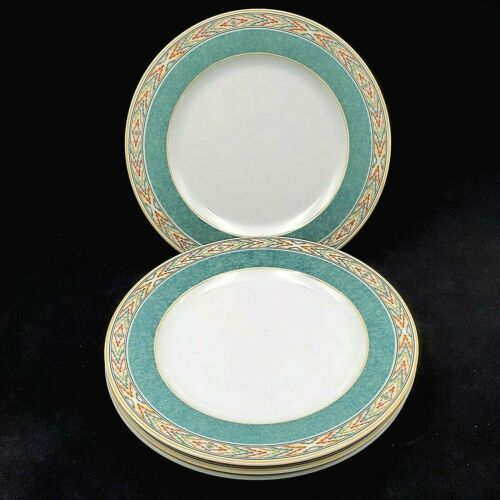 Wedgwood Home Aztec SALAD LUNCHEON PLATE Fine Porcelain SET OF 4