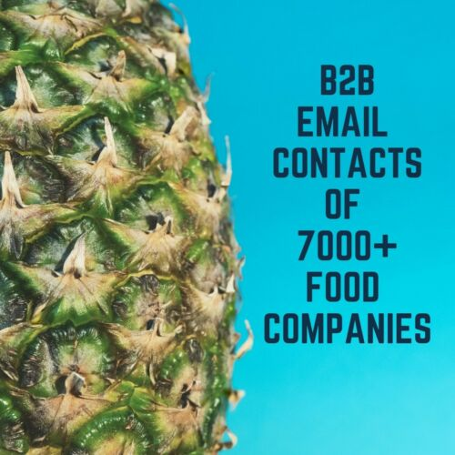 Email Marketing B2B Contacts of USA Asia Europe Based 7000+ Food Companies