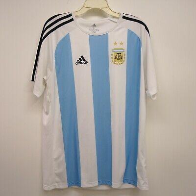 d380a643b7a Adidas Sz Large Mens Argentina AFA Soccer Climacool White Home Jersey Shirt  New
