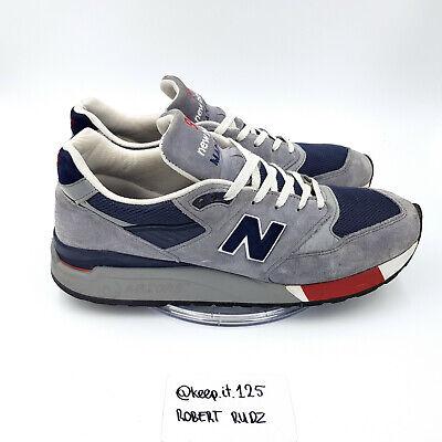 New Balance 998 Grey, Navy & Red M998GNR 11UK