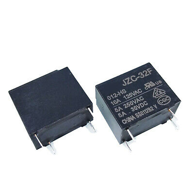 Us Stock 2pcs Power Relay Spst 5a 250vac Load 12v Coil Jzc-32f-012-hs