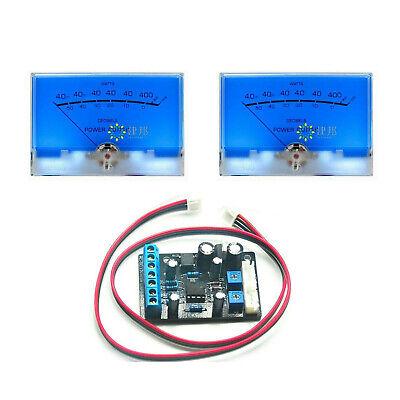 2x Big Blue Mcintosh Classic Vu Meter Db Level Amplifier W Ta7318p Driver Board