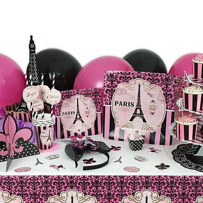 Birthday Party Decorations Favours A Day in Paris Parisian Girl Pink Hen Do Gift - Parisian Party Decorations