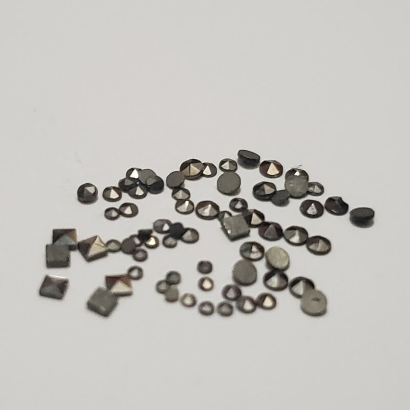 MIX LOT  50  Natural Machine Cut Swiss Marcasite Round and square  Loose Stones
